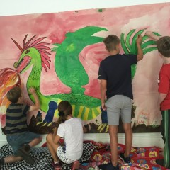 Group Dragon Mural