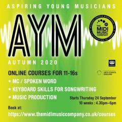 AYM Creative online courses for 11-16s this autumn