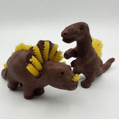 Clay dinosaurs at The Potteries Museum & Art Gallery