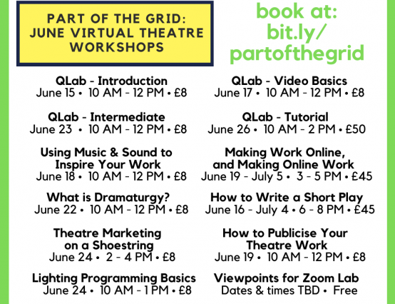Part of the Grid - June Workshops