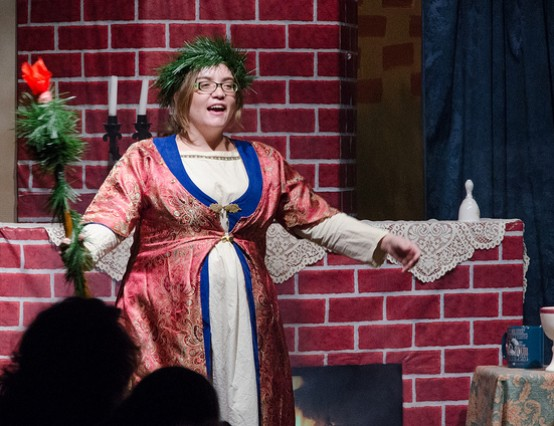 How is Christmas portrayed in theatre?