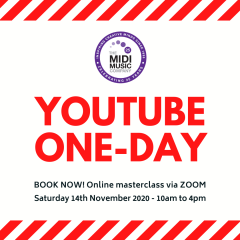 New! YouTube one-day course this autumn