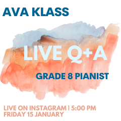 Instaviews with Ava Klass Friday 15 Jan at 5pm