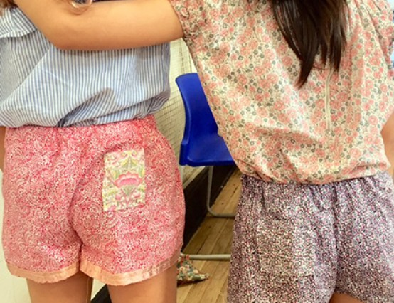 Feb Half Term: Kids' Liberty Fabric Shorts Workshop in Chelsea
