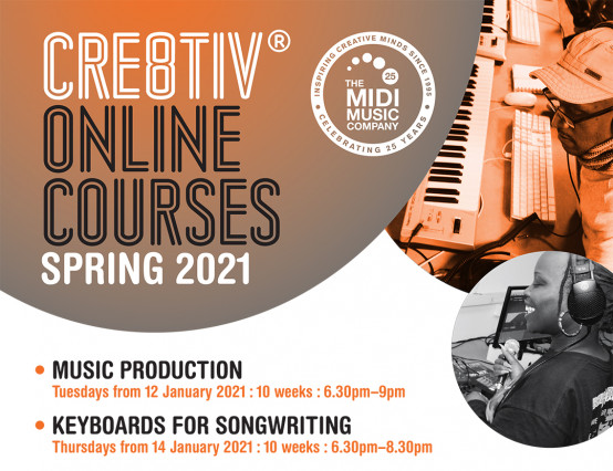 Cre8tiv® Online Spring Courses for Over 16s