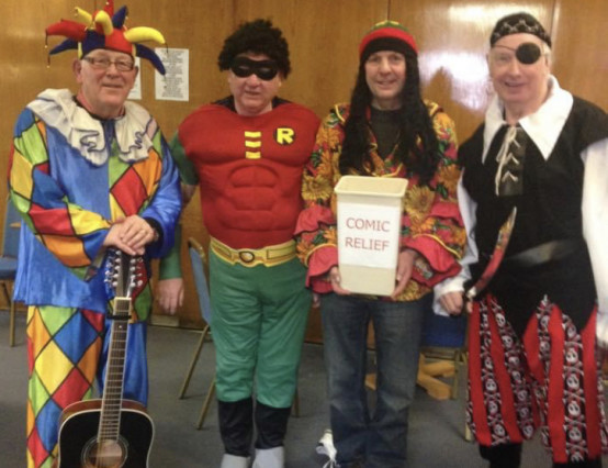 Alfreton Voice Choir online busk for Red Nose Day