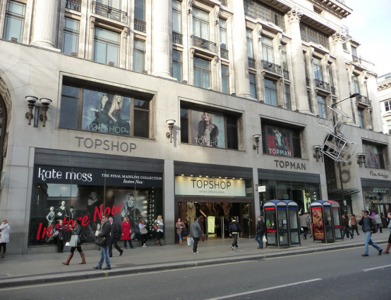 Topshop's flagship Oxford Street store goes up for sale